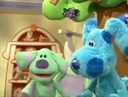 Blue's Clues Blue's Room Blue and Polka Dots copy