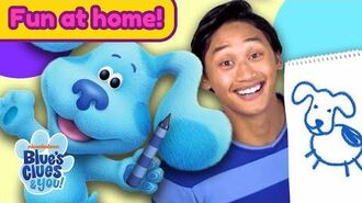 Josh & Blue Playdate 4 ft. Mailtime & Drawing! Home Activities for Kids Blue's Clues & You!
