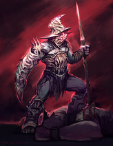 Demon gladiator by noe leyva-daq0xda