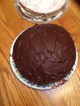 My 19th birthday chocolate cake with frosting
