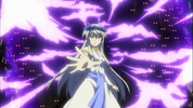 Athena in her original form casting a spell