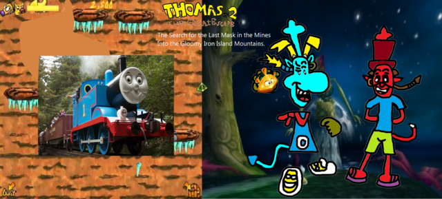 File:Thomas 2 - The Great Escape! - Part 15 - Thomas Collects The Fourth Mask in the Iron Mountains for James..png