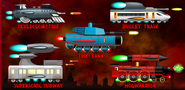 The Trains as The Tanks.