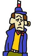 Ten Cents (Jim Hawkins) looks sad.