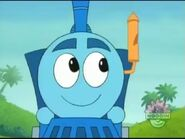 Azul the little big train with a whistle by hubfanlover678-d9zmlx0