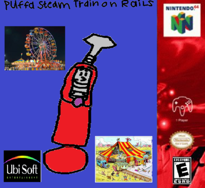 Puffa Steam Train on Rails for Nintendo 64.
