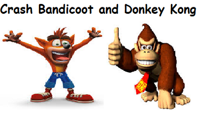 Crash Bandicoot and Donkey Kong