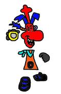 Evil Thomas as Dark Rayman.