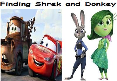 Finding Shrek and Donkey.