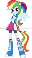 Mlp eg the equestria girls rainbow vector by electricgame-d9opi7c