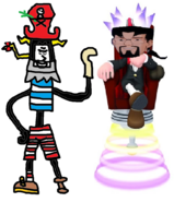 Mr. Devious Diesel as Admiral Razorbeard and Ben Ravencroft as Specter.
