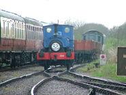 Lady Nan shunts freight cars.
