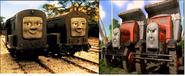 Splatter, Dodge, Max, and Monty as The Knaarens.