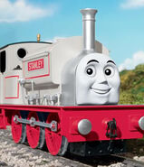 Stanley the silver engine.