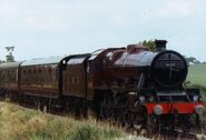 LMS Jubilee class steam locomotive 5690 Leander