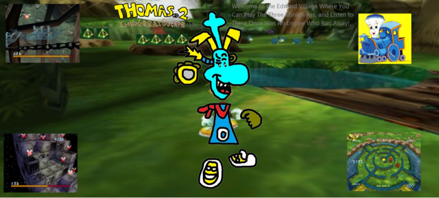 File:Thomas 2 - The Great Escape! - Part 17 - The Edward Village, Three Minigames, and There Once Was A Little Engine That Could Who Ran Away..png