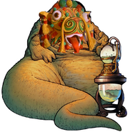 Chinese Dragon as Jabba the Hutt.
