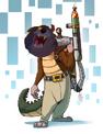Mr. Dragon The Cat as Dingodile