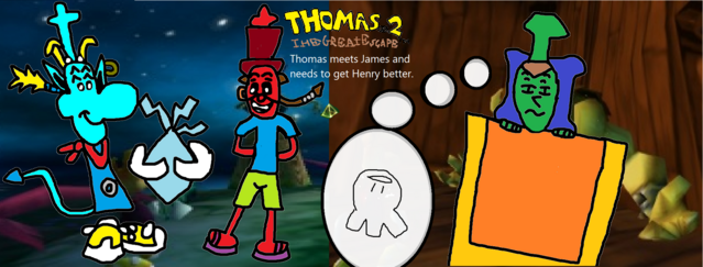 File:Thomas 2 - The Great Escape! - Part 4 - Thomas meets James and needs to get Henry better..png