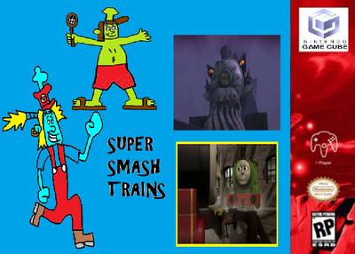 Super Smash Trains (Nintendo Gamecube) Poster.