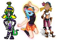 Emily as Ly the Fairy, Rainbow Dash as Helga, and Helga as Keira.