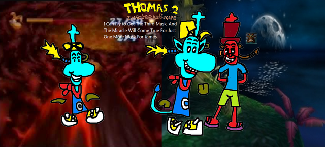 File:Thomas 2 - The Great Escape! - Part 13 - I Can Fly And Get The Third Mask For James!.png