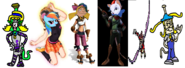 Emily as Ly the Fairy, Rainbow Dash as Helga, Helga as Keira, Toodles Galore as Talywn Apogee, Lillie Lightship as Cynder, and Emily Vigorous as Coco Bandicoot.