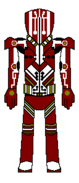 Custom Metroid Bounty Hunter Designation Yellow Jacket Imperial Guard Suit Back View By Lord Rose Thorn