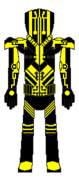 Custom Metroid Bounty Hunter Designation Yellow Jacket Regular Suit Back View By Lord Rose Thorn