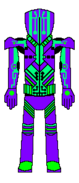 Custom Metroid Bounty Hunter Designation Yellow Jacket Gravity Suit Upgrade Back View By Lord Rose Thorn