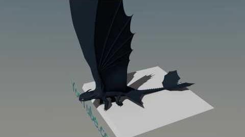 Night Fury Flight 2.1 Blender Animation