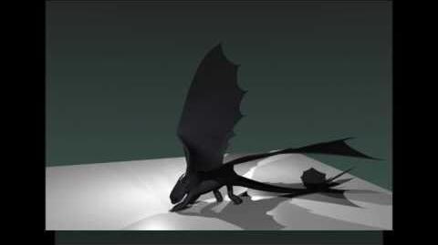 Blender Night Fury Dragon 3d Model WIP