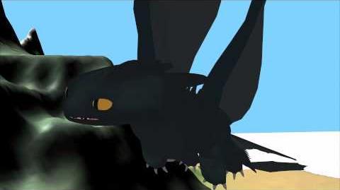 Night Fury Flight Preview 4 WIP Blender