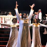 Liturgical praise team at the holy convocation