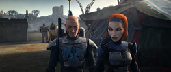 Bo-Katan and Pre Vizsla on Zanbar-SOR