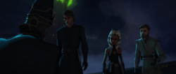 Obi-Wan Anakin Ahsoka talk to Father-AOM