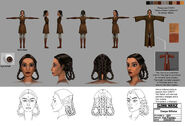 601 Character design of Jedi Master Deepa Billaba