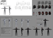 609 Hunter full character illustration