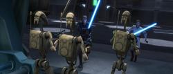 Anakin Obi-Wan attack droids-WOTM