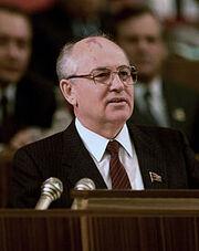 Mikhali Gorbachev in 1987