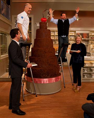 Alain roby tall chocolate cake martha stewart show