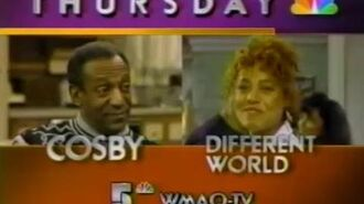 80's Ads Cosby Show Different World Promo 1989