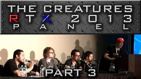 "The Creatures Panel - Part 3 ""Sp00n's Face Reveal, More Q&A, and Goodbye"" (RTX 2013)"
