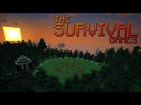 minecraft survival games map with filled chests