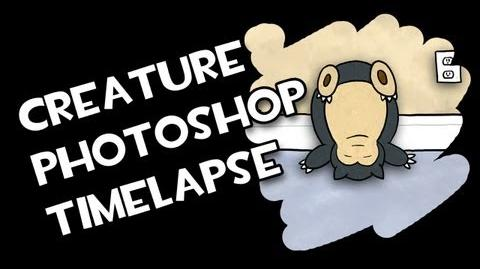 """Upside Down Trollax"" Creature T-Shirt Photoshop Timelapse - AVAILABLE NOW!"