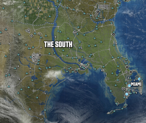 The South | THE CREW Wiki | FANDOM powered by Wikia on grand theft auto: san andreas map, dragon age: inquisition map, the sims 4 map, watch dogs map, microsoft windows map, escape dead island map, assassin's creed unity map, midtown madness map, bound by flame map, mortal kombat x map, smokey and the bandit map, forza horizon map, gta 5 map, everybody's gone to the rapture map, lego the hobbit map, hyrule warriors map, star wars the old republic map, lords of the fallen map, contrast map, need for speed rivals map,