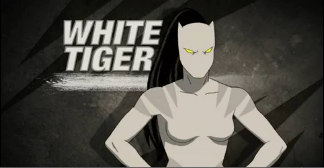 White tiger ultimate spider man animated series wiki - Tigre blanc marvel ...