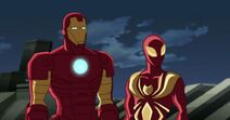 Iron Spider with Iron Man