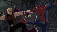Spider-Man, Beetle and Hawkeye