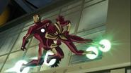 Livins Laser attacking Iron Man